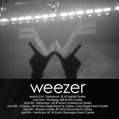 Western Canadian tour with Weezer!
