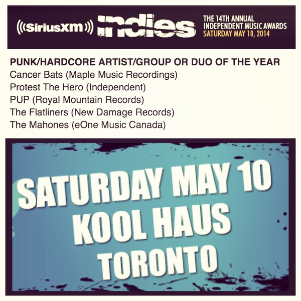 Sirius XM Indie Nomination