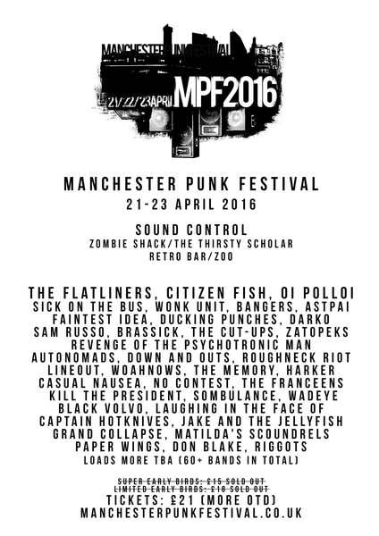 Manchester Punk Fest announced!